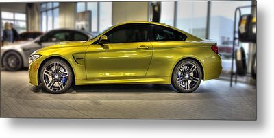 Metal Print featuring the photograph 2015 Bmw M4 by Aaron Berg