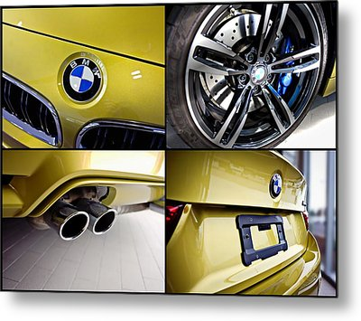 Metal Print featuring the photograph 2015 Bmw M4 Collage  by Aaron Berg