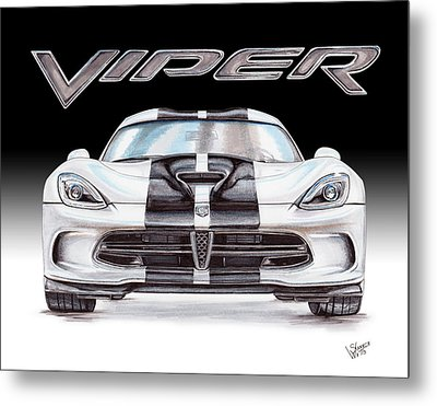 2015 Dodge Viper Metal Print by Shannon Watts