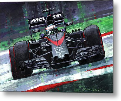 2015 Mclaren Honda F1 Austrian Gp Alonso  Metal Print by Yuriy Shevchuk