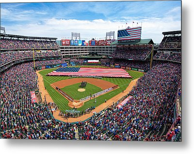 2015 Texas Rangers Home Opener Metal Print