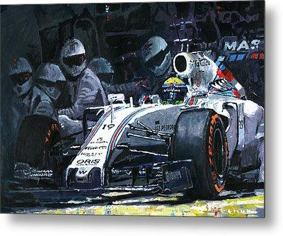 2015 Williams Fw37 F1 Pit Stop Spain Gp Massa  Metal Print