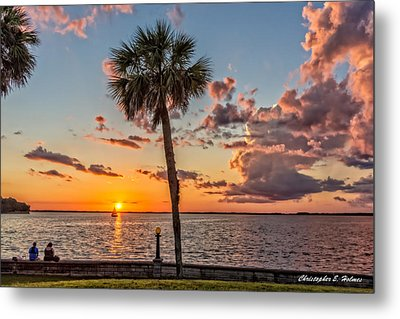 Sunset Over Lake Eustis Metal Print by Christopher Holmes