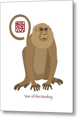 2016 Chinese New Year Of The Monkey Metal Print by Jit Lim