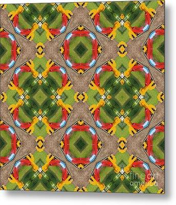 Kaleidoscopic Ornaments Metal Print by Miroslav Nemecek