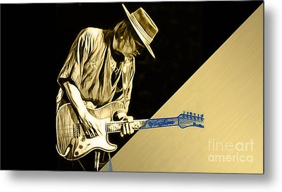 Stevie Ray Vaughan Collection Metal Print by Marvin Blaine