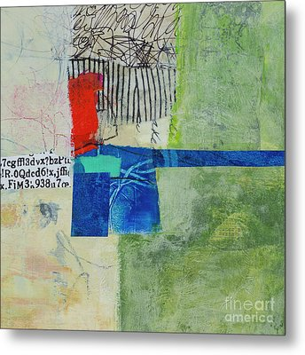 Metal Print featuring the mixed media 23 by Elena Nosyreva