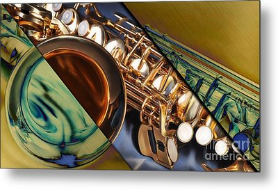 Saxophone Collection Metal Print by Marvin Blaine