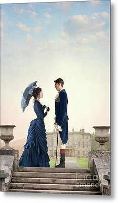 Metal Print featuring the photograph Victorian Couple  by Lee Avison
