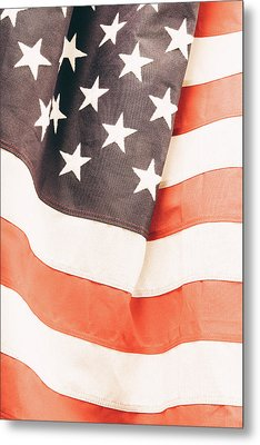 Metal Print featuring the photograph American Flag by Les Cunliffe