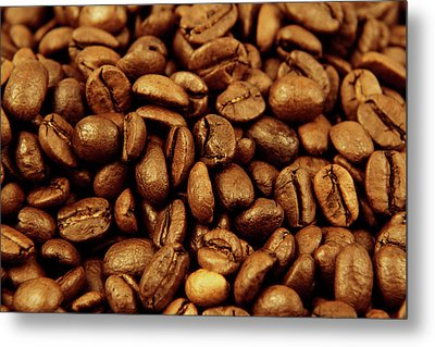 Metal Print featuring the photograph Coffee Beans by Les Cunliffe