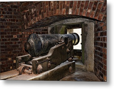 24 Pounder Cannon Metal Print by Peter Chilelli