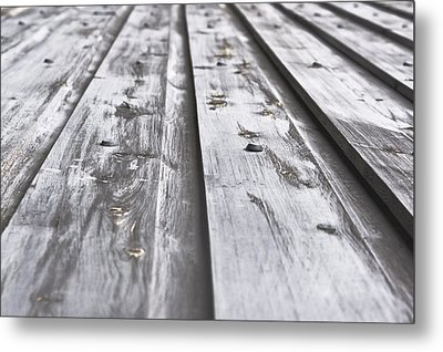 Wooden Background Metal Print