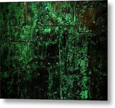2525 Ad Copper Wall 02 Metal Print by Nilla Haluska