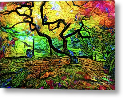 Abstract Japanese Maple Tree Metal Print