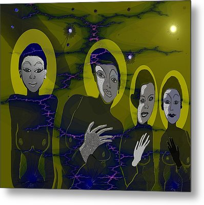 263 - Friendly Neighbours Metal Print by Irmgard Schoendorf Welch