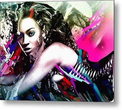 Beyonce Knowles Metal Print by Bogdan Floridana Oana