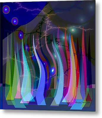 272 - We Are Sailing Metal Print by Irmgard Schoendorf Welch