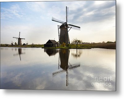 Mills In Netherlands Metal Print by Andre Goncalves