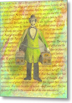 Metal Print featuring the mixed media 2b Or Not 2b by Desiree Paquette