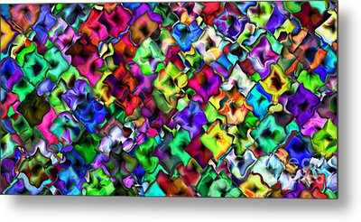 2x1 Abstract 405 Metal Print by Rolf Bertram