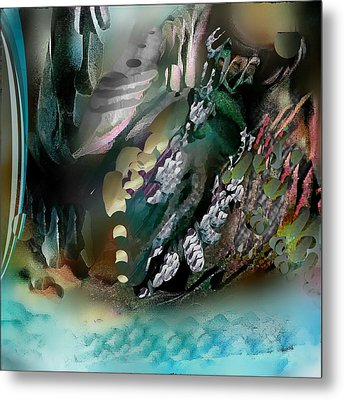 Art Abstract Metal Print by Sheila Mcdonald
