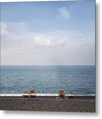 Beach Chairs Metal Print by Joana Kruse