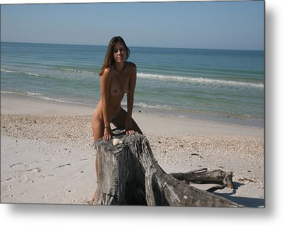 Metal Print featuring the photograph Beach Girl by Lucky Cole