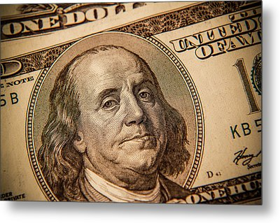 Metal Print featuring the photograph Benjamin Franklin by Les Cunliffe