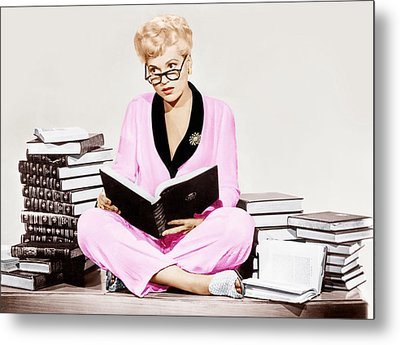 Born Yesterday, Judy Holliday, 1950 Metal Print