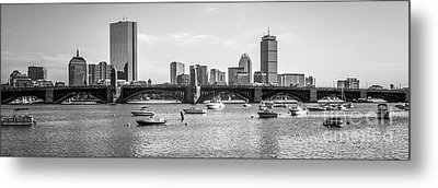 Boston Skyline Black And White Photo Metal Print by Paul Velgos
