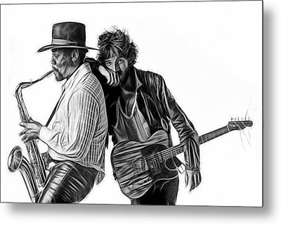 Bruce Springsteen Clarence Clemons Collection Metal Print by Marvin Blaine