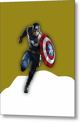 Captain America Collection Metal Print
