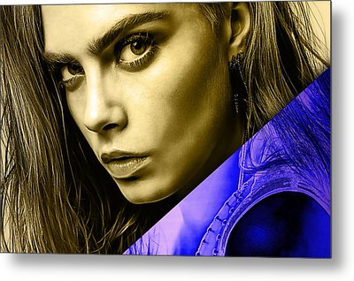 Cara Delevingne Collection Metal Print