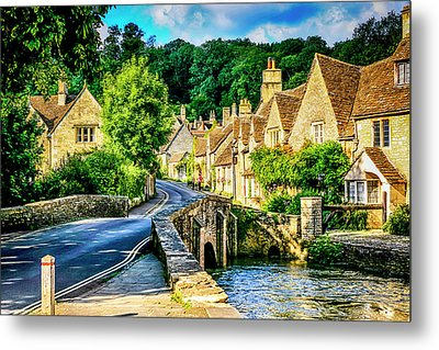 Castle Combe Village, Uk Metal Print