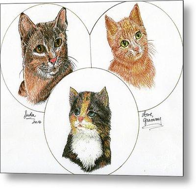 3 Cats For Juda Metal Print