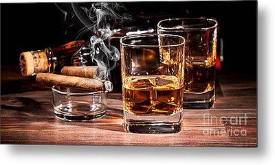 Cigar And Alcohol Collection Metal Print