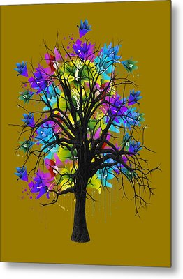 Color Tree Collection Metal Print