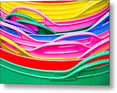 Colorful Plastic Metal Print by Tom Gowanlock