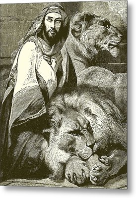 Daniel In The Lions Den Metal Print by English School