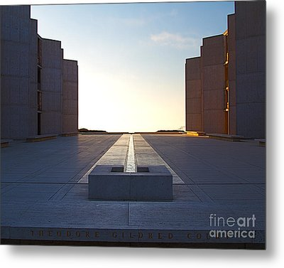 Design And Architecture Of The Salk Institute In La Jolla Califo Metal Print by ELITE IMAGE photography By Chad McDermott