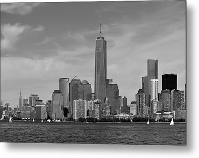Downtown Manhattn - Freedom Tower Metal Print by Yue Wang