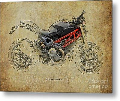 Ducati Monster 796 2013 Metal Print by Pablo Franchi
