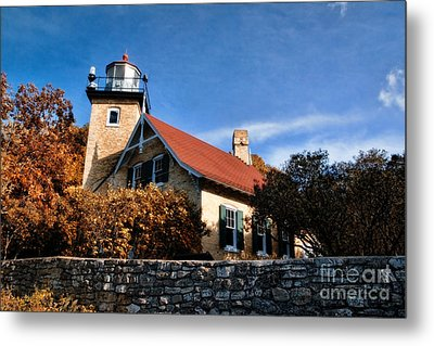 Eagle Bluff Lighthouse Metal Print by Joel Witmeyer