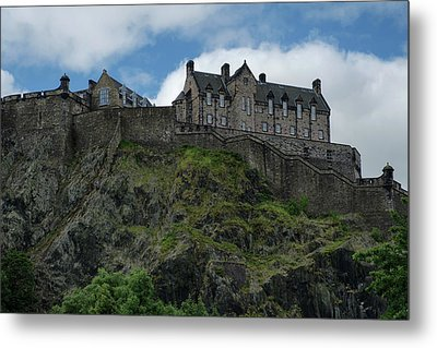 Metal Print featuring the photograph Edinburgh Castle In Scotland by Jeremy Lavender Photography