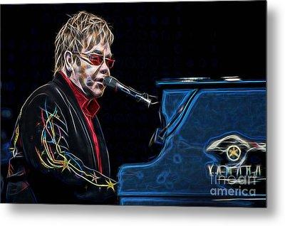 Elton John Collection Metal Print by Marvin Blaine