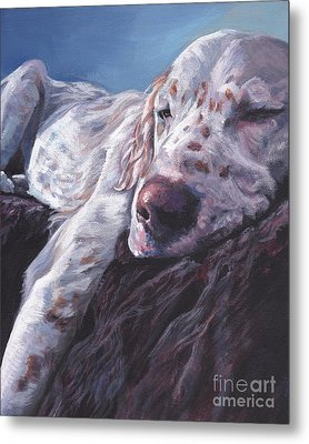 Metal Print featuring the painting English Setter by Lee Ann Shepard