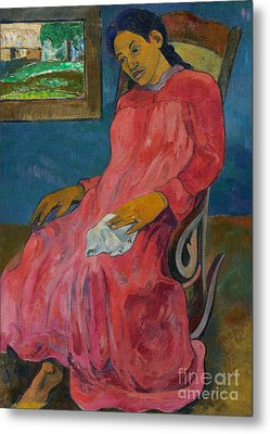 Faaturuma, Melancholic Metal Print by Paul Gauguin