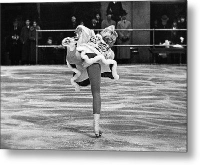 Figure Skater Melitta Brunner Metal Print by Underwood Archives