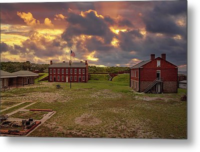Metal Print featuring the photograph Fort Clinch by Peter Lakomy